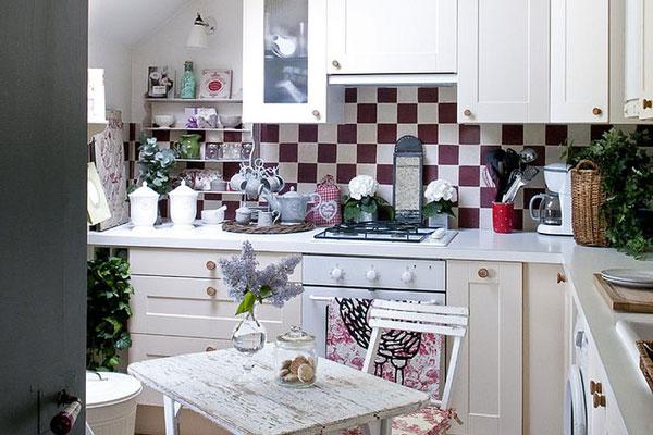 narrow kitchen design for spring