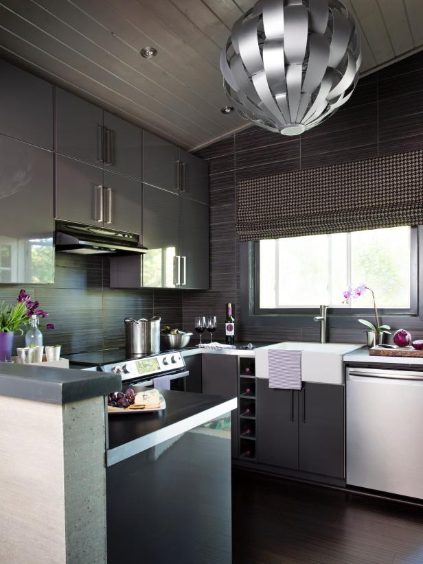 black color kitchen example