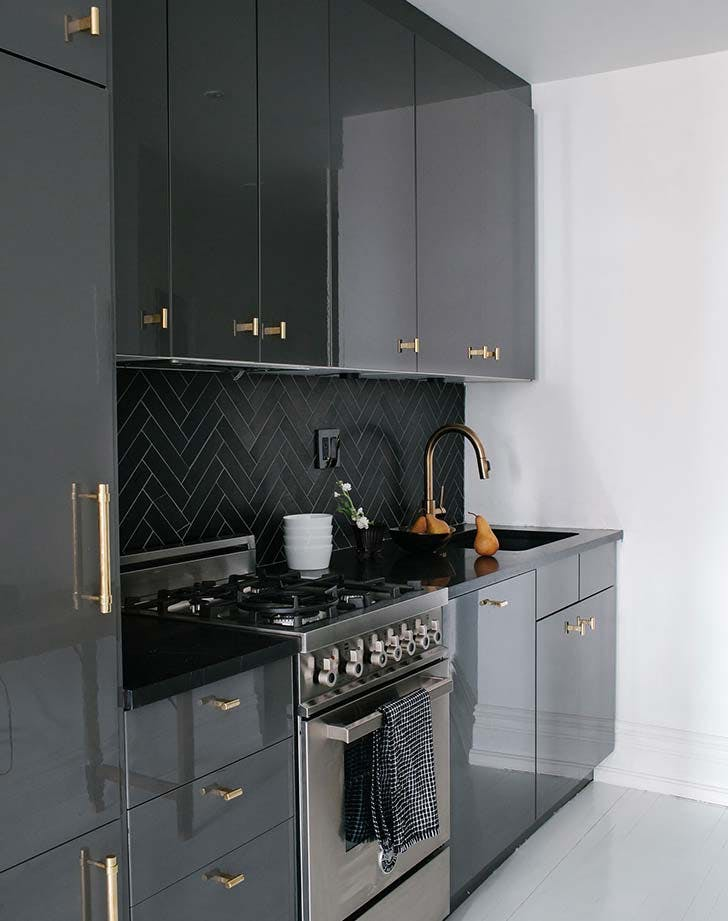 kitchen black color