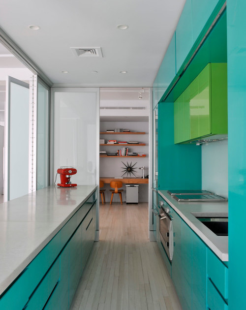 green color kitchen design