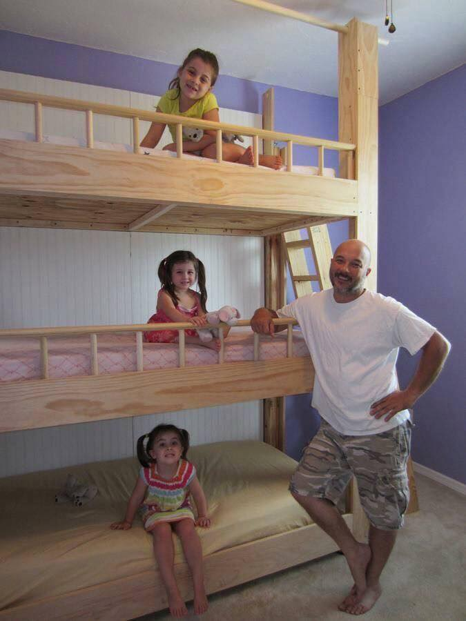 Triple kids beds