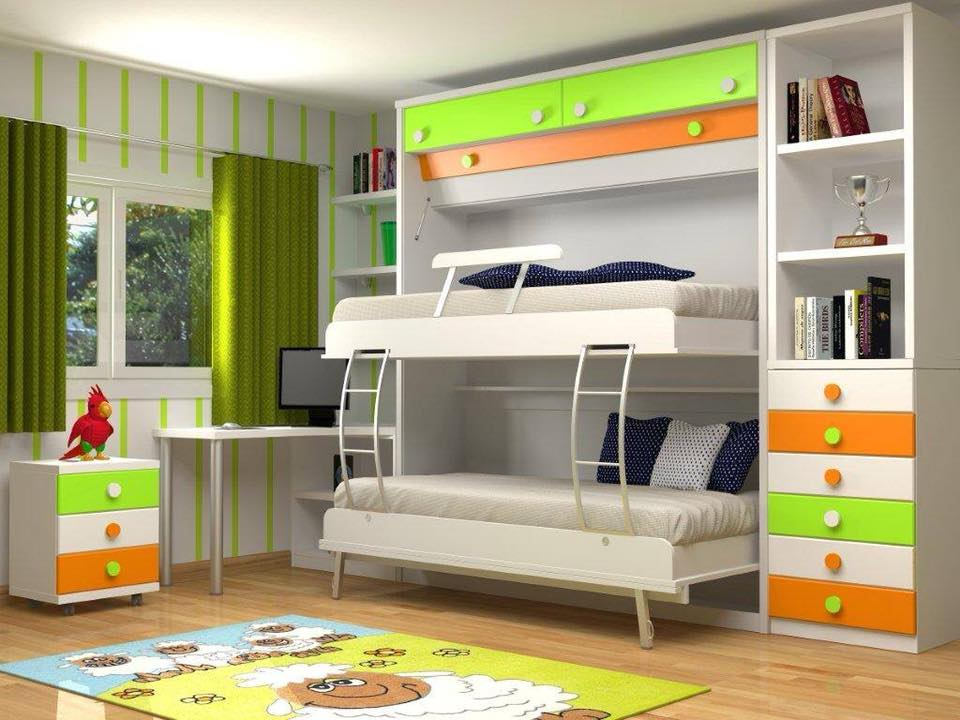 Double beds for a kids room