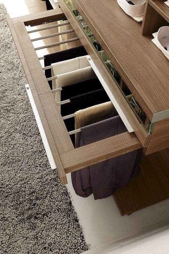 Modern space-saving wardrobe