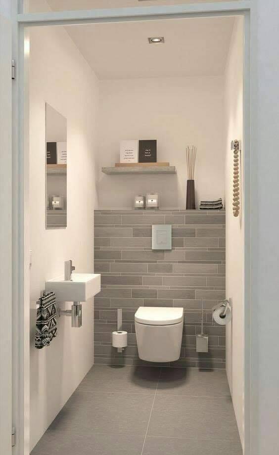 toilet built in wall