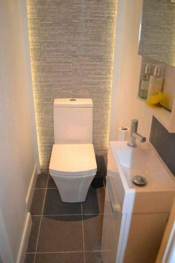 Small toilet room design