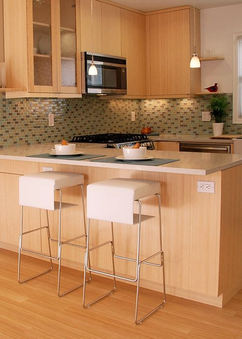 Eco-friendly bamboo countertop