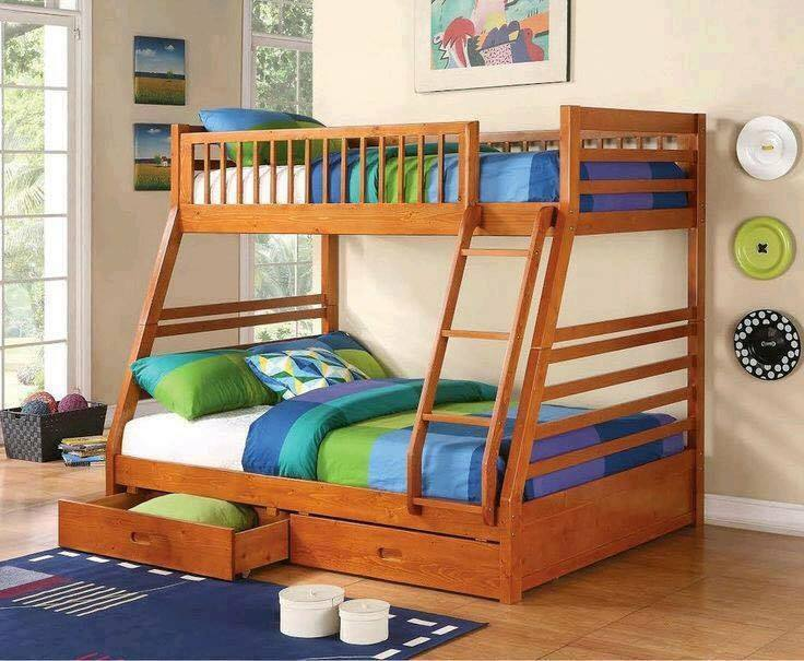 Bunk bed twin queen adult honey