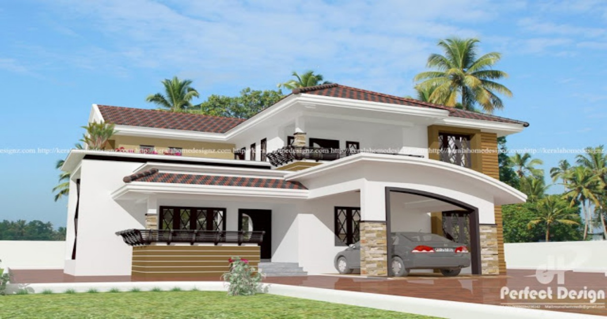 Four Bedroom Double Storey Kerala House Plan My Home My Zone