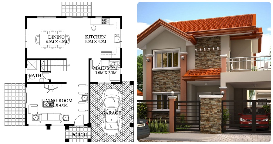 Phenomenal Philippines House Plan 166 S Q M My Home My Zone,Back Neck Back Side Hand Embroidery Blouse Designs
