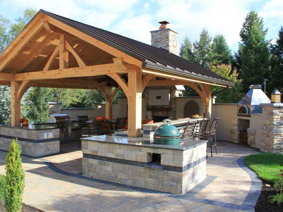 Outdoor living area idea with BBQ