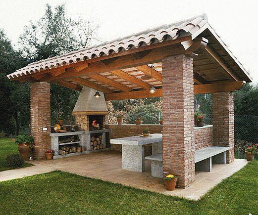 Outdoor barbecue designed place