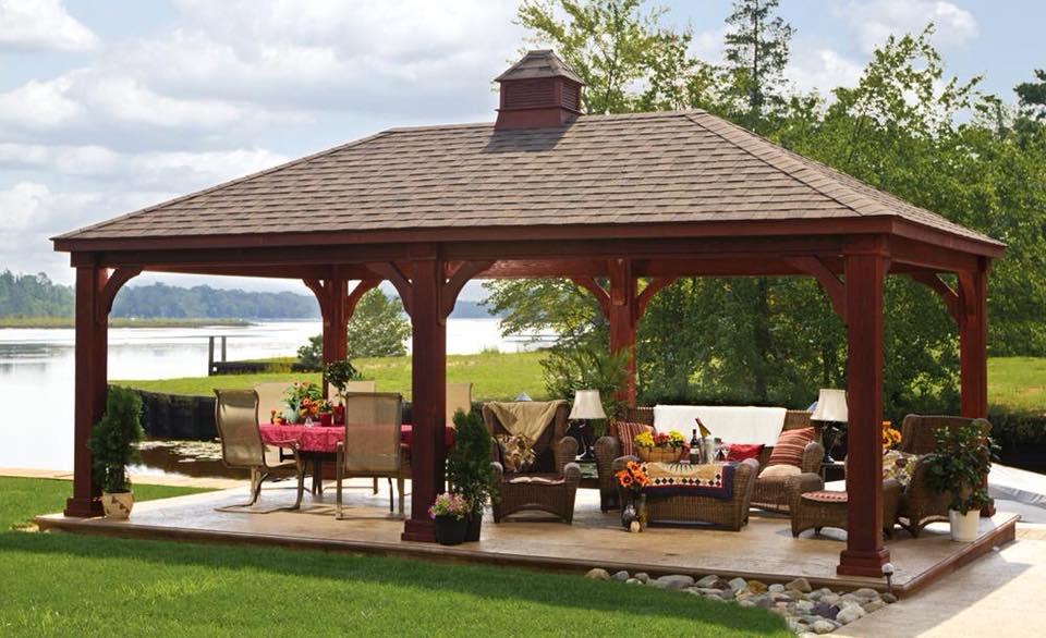 Simple backyard pavilion idea