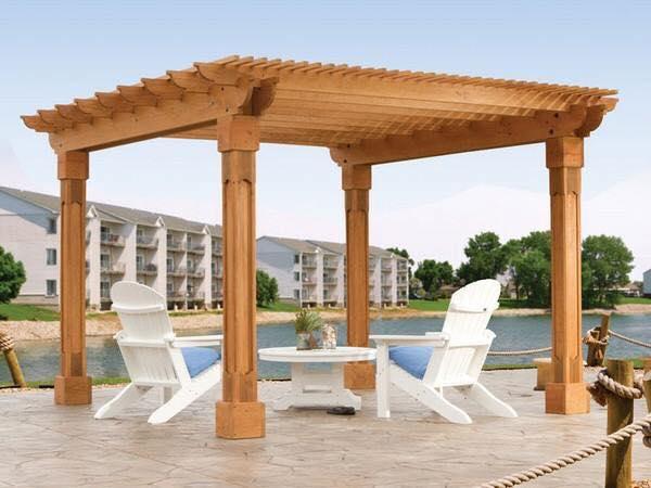 Timber pergola design