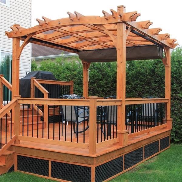 Pergola covered deck ideas