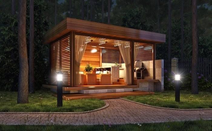 Modern style gazebo design