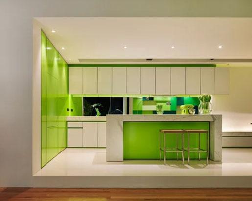 Modern green kitchen design