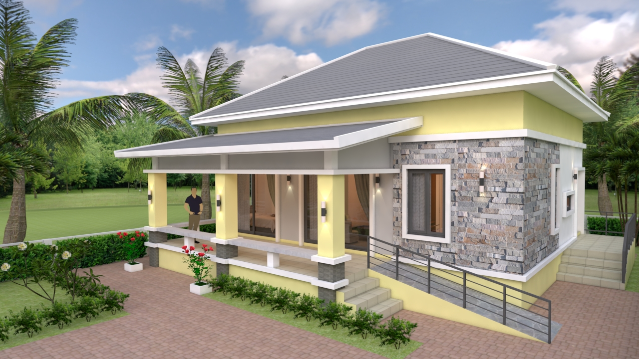 Small House Design 10 10 With 3 Bedrooms Hip Roof My Home My Zone