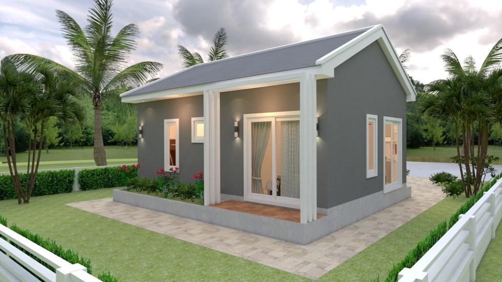 Small House With Slate Grey Colored Gable Roof - Source: SamPhoas Plan