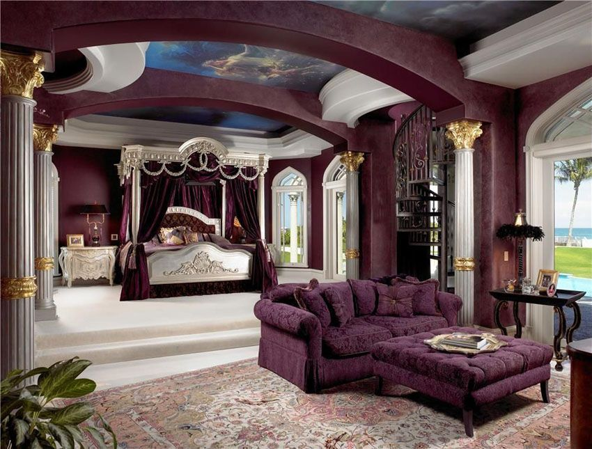 Luxurious Purple bedroom