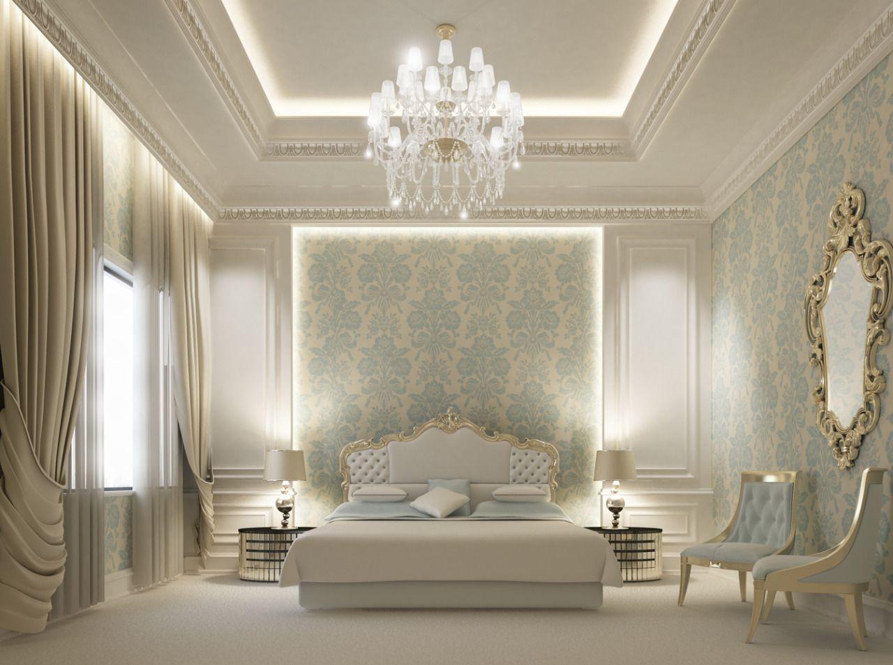 Interior bedroom design in Dubai