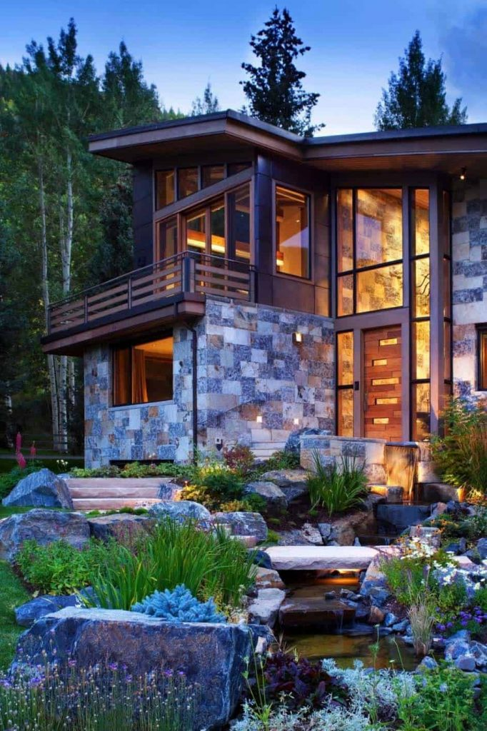 Captivating Modern-rustic Home in the Colorado Mountains - Source: Suman Arthitects