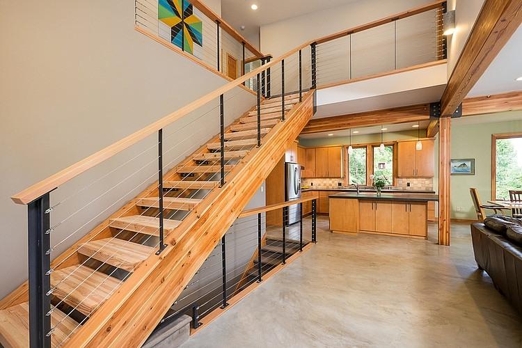 Modishly Designed Staircase - Source: Steve Moe Design