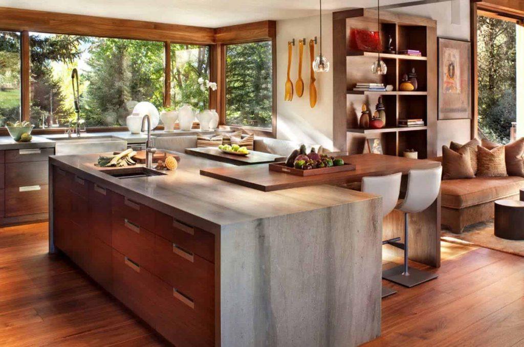 Warm Congenial Kitchen Set up  - Source: Suman Arthitects