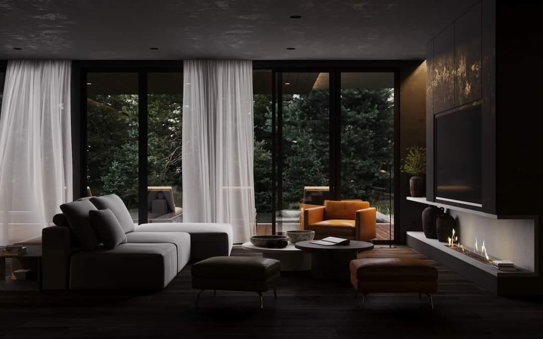Comfortable Living Room Set Up - Source: Kireevaaanna