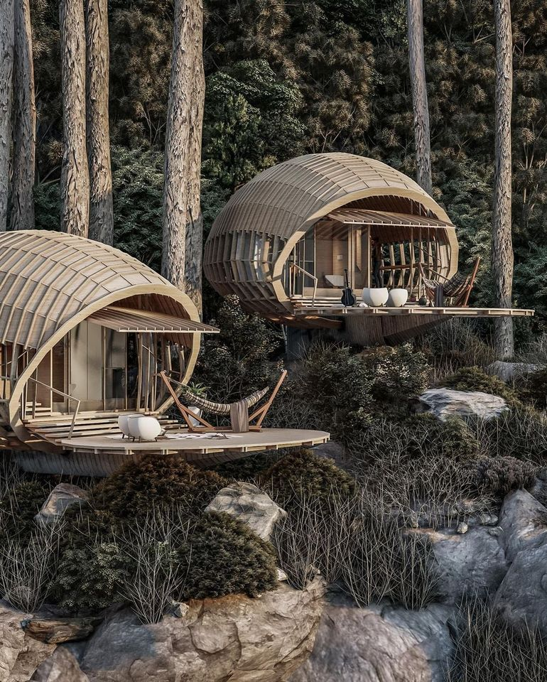 awesome Location For The Cabins - Source: Amazing Architecture