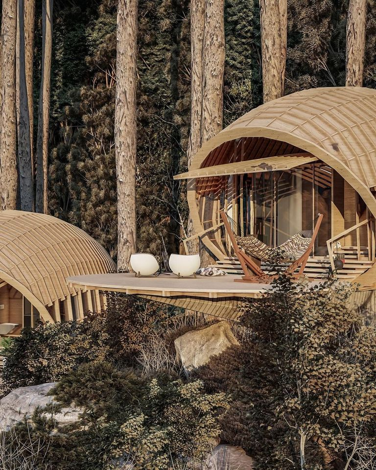 Mesmeric Location For The Cabins - Source: Amazing Architecture