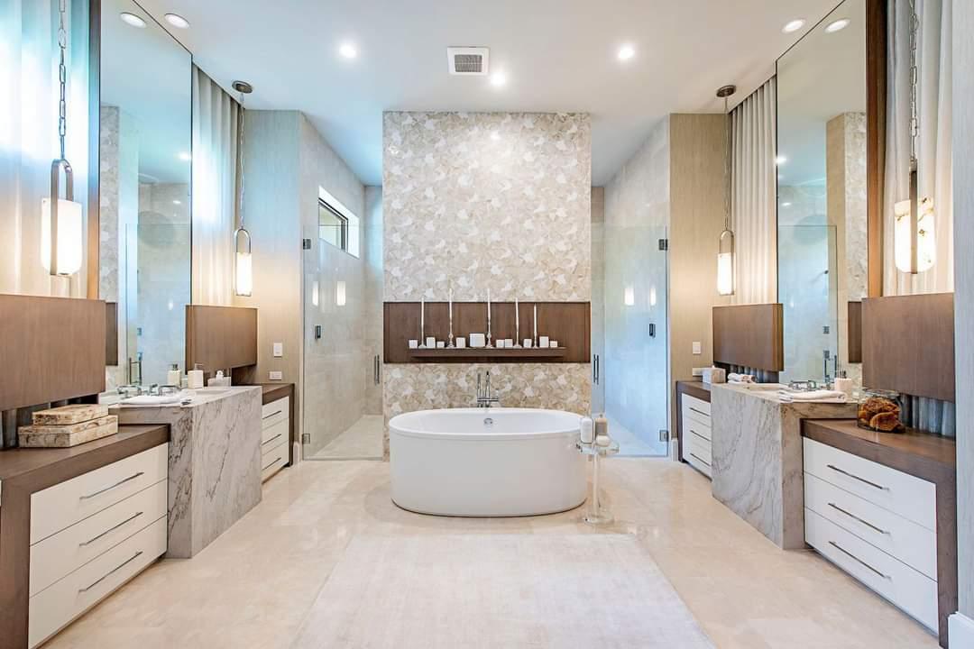 Modern Bathroom Set Up - Source: Marc-Michaels Interior Design