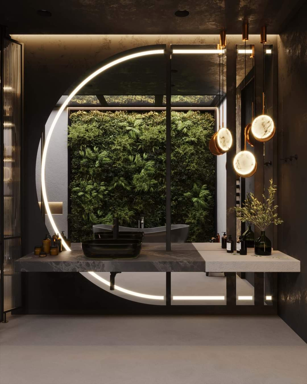 Enchanting Bathroom Set Up - Source: Kireevaaanna