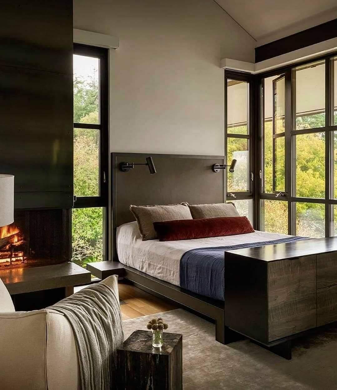 Stunning Bedroom - Source: Olson Kundig