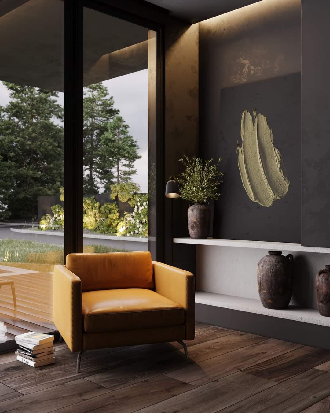 Comfortable Orange Sofa Set - Source: Kireevaaanna