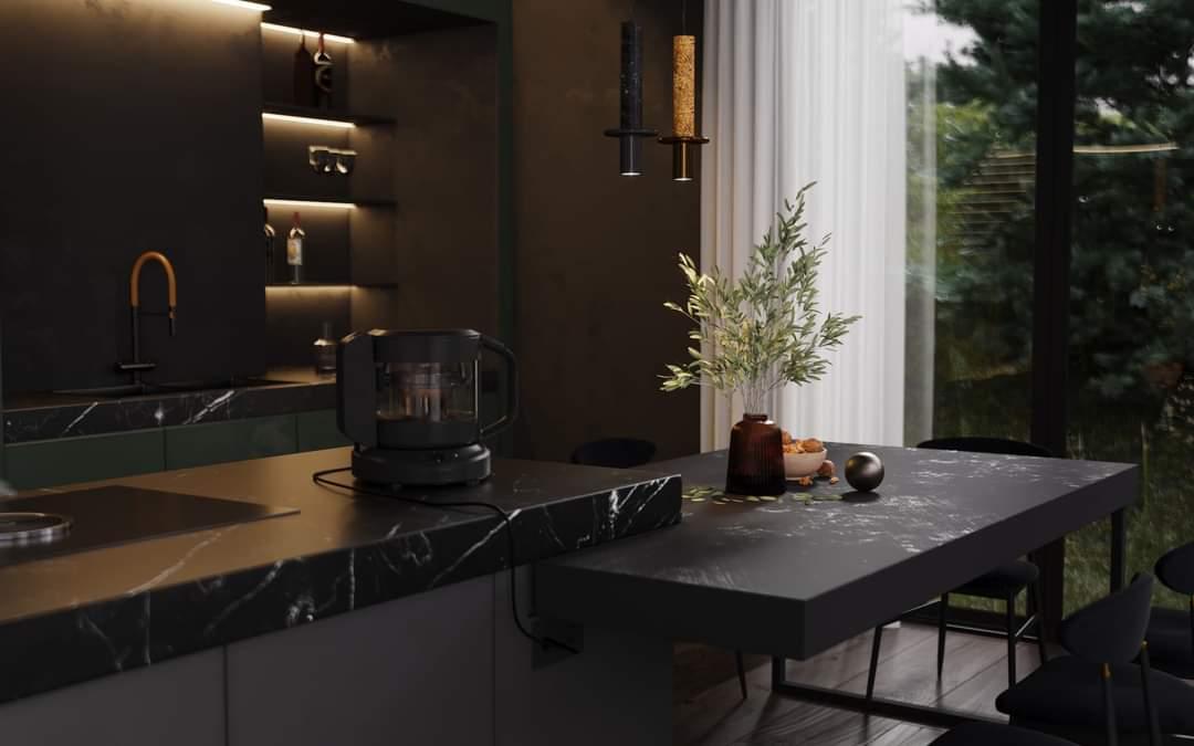 Beautiful Kitchen Set Up - Source: Kireevaaanna
