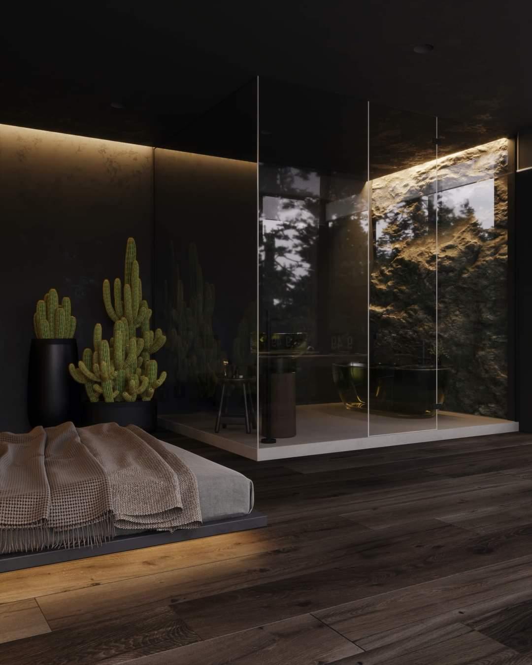 Striking Bathroom Interior Set Up - Source: Kireevaaanna