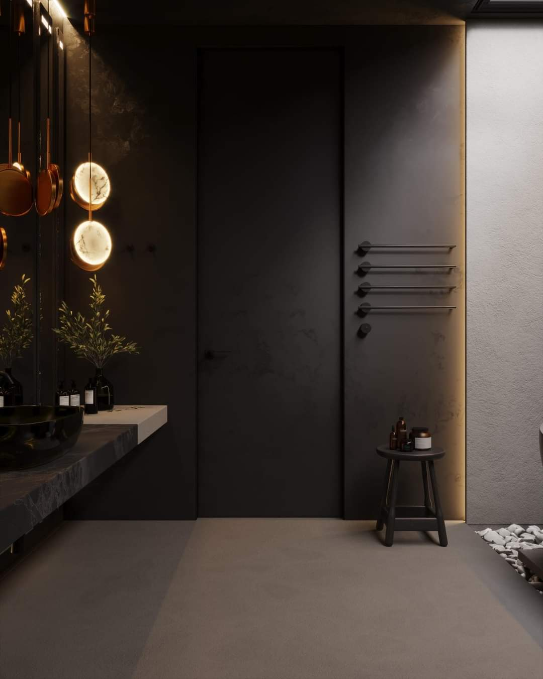Eye-Catching Bathroom Interior Set Up - Source: Kireevaaanna