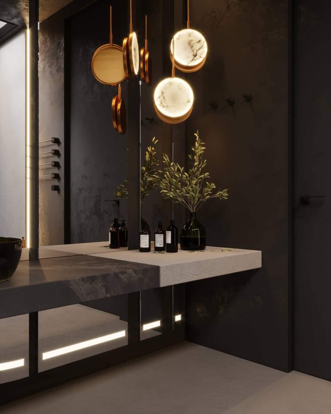 Beautiful Bathroom Set Up - Source: Kireevaaanna