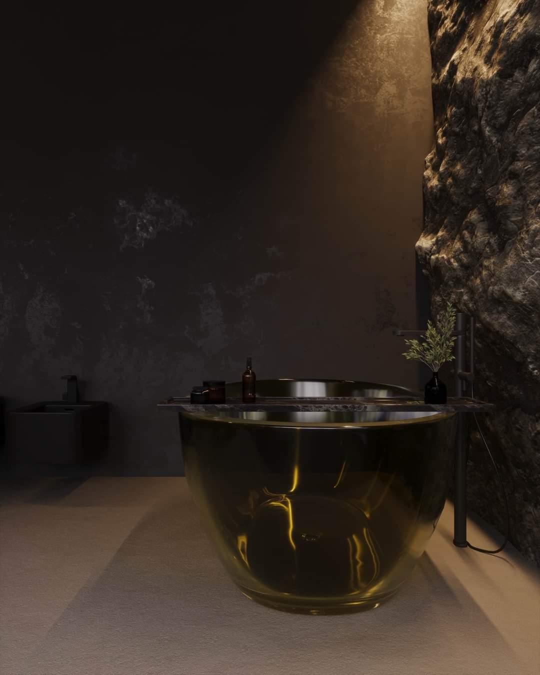 Enchanting Bath Tub Set Up - Source: Kireevaaanna
