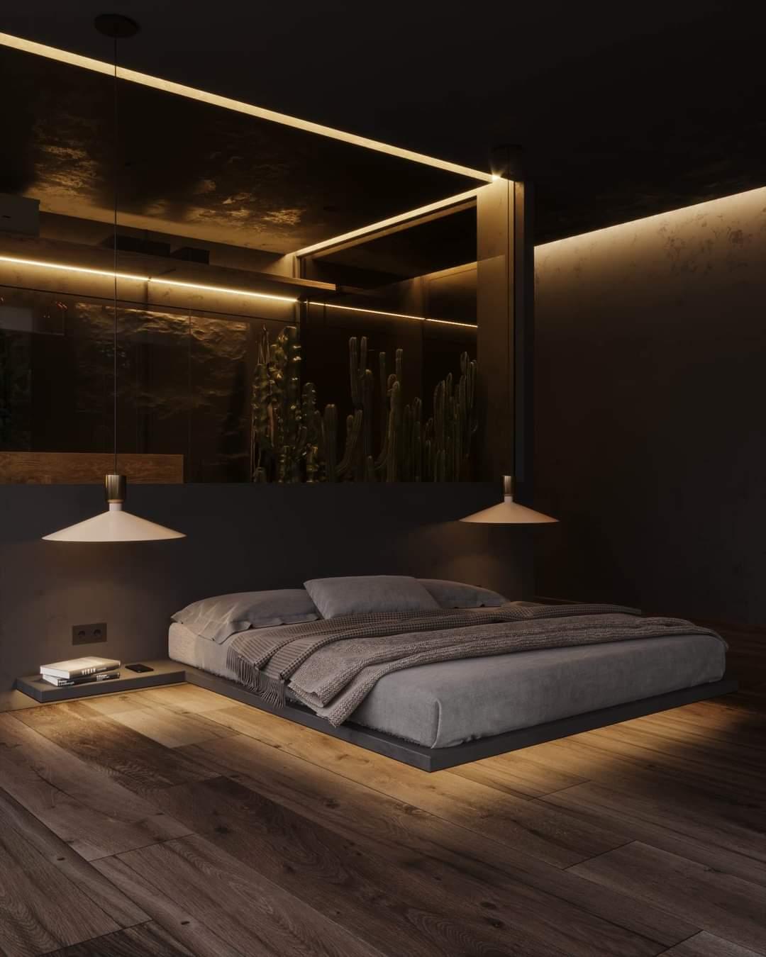 Magical Black Bedroom Set Up - Source: Kireevaaanna