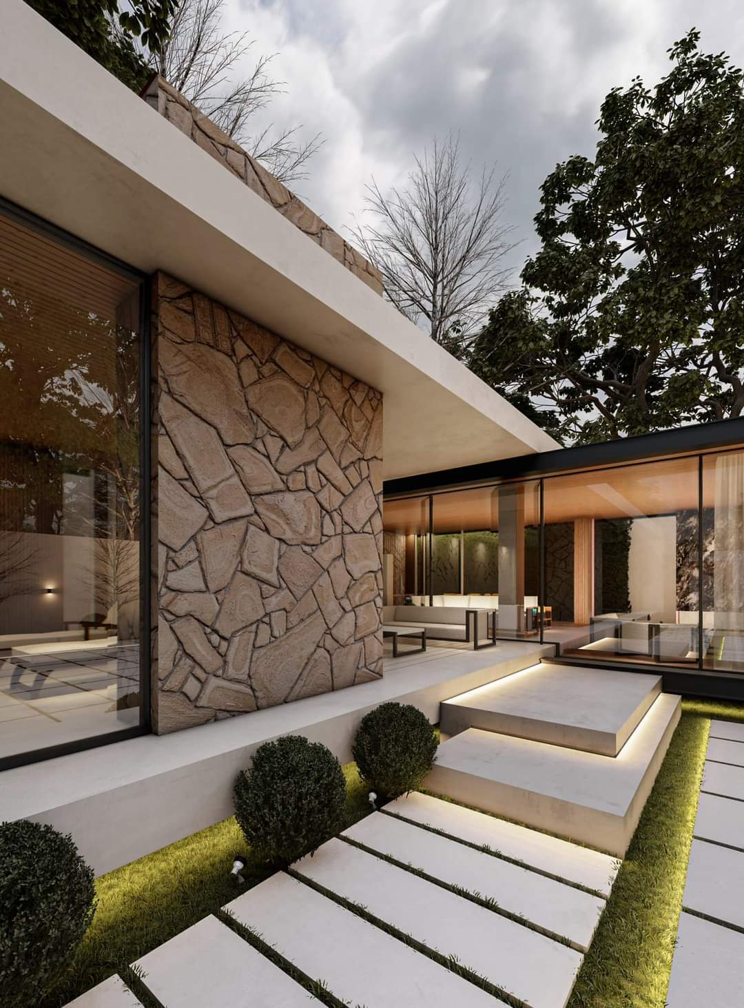 Beautiful Home Design With Attractive Inviting Entrance